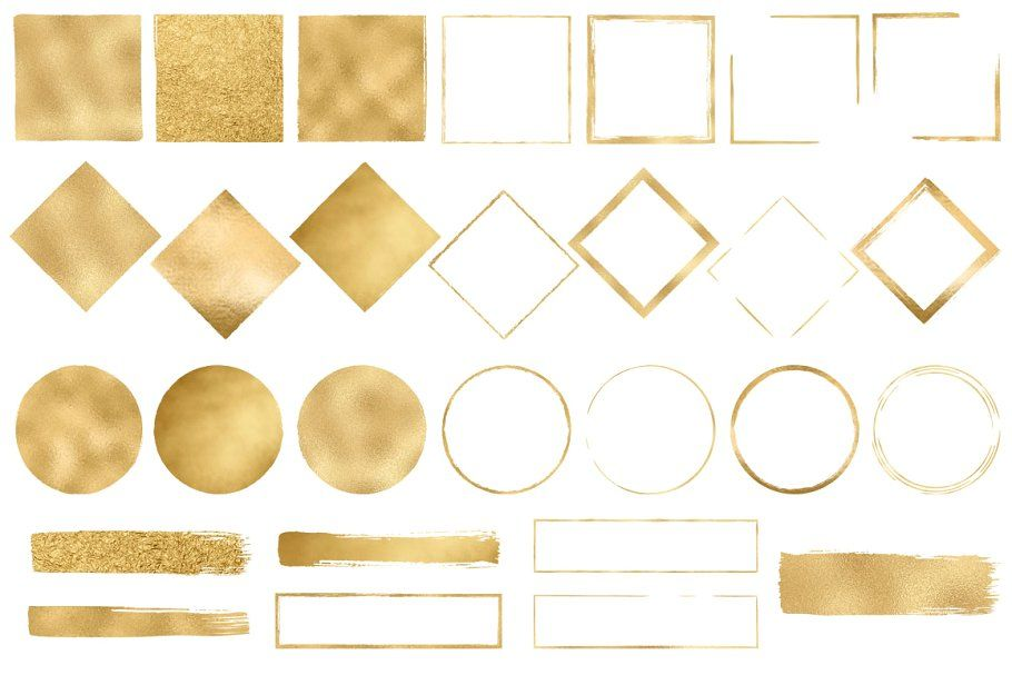 Gold Design Elements on Creative Market.