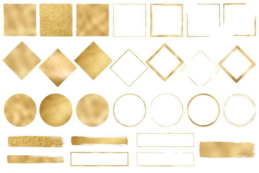 Gold Design Elements on Creative Market.