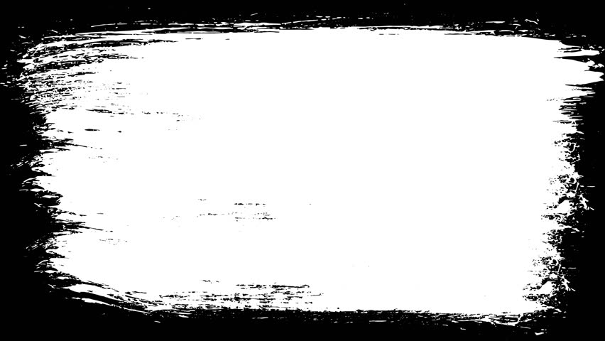 Paint Brush Stroke Frame Drawing Stock Footage Video (100% Royalty.
