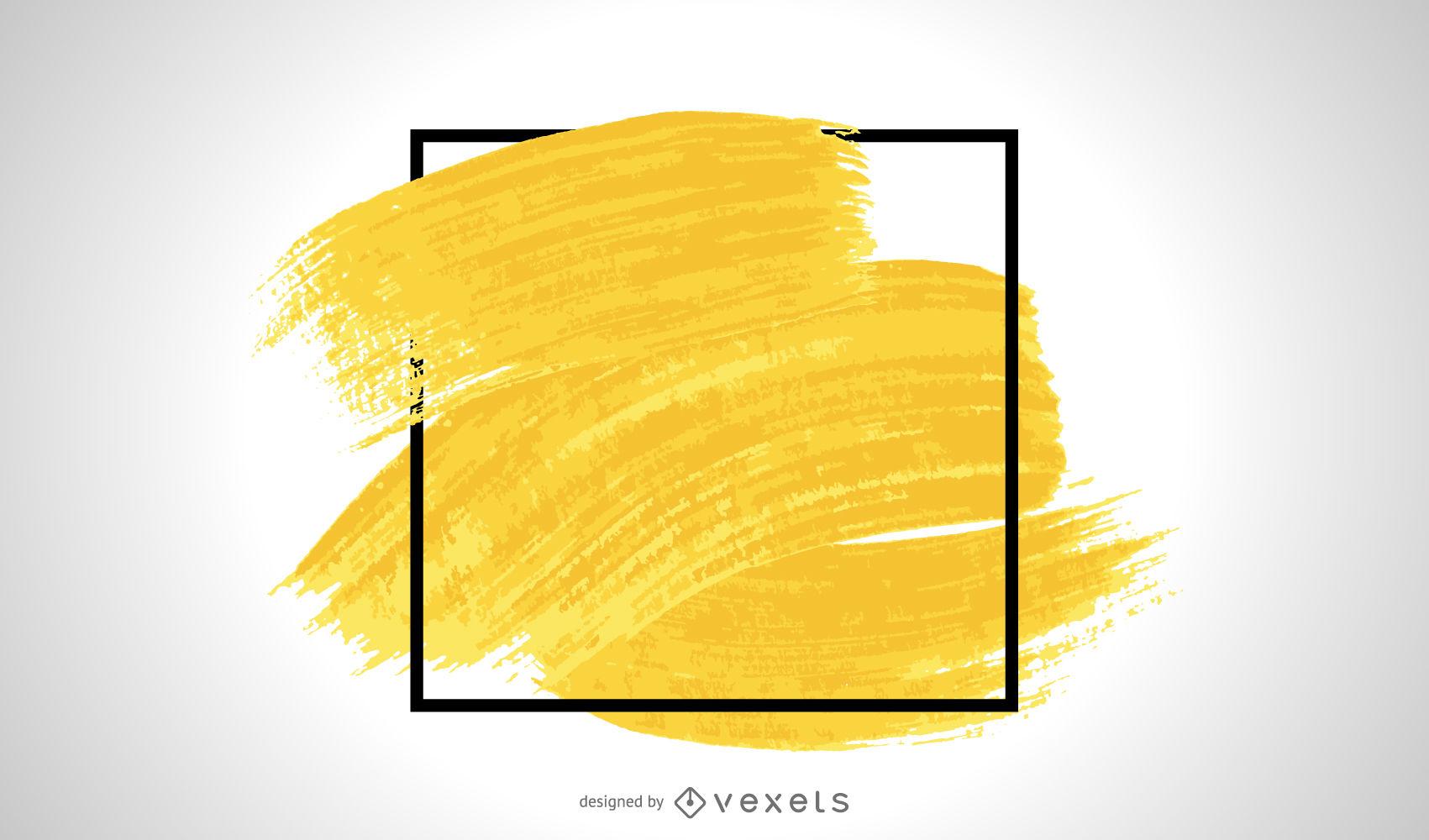 Yellow brush stroke frame.