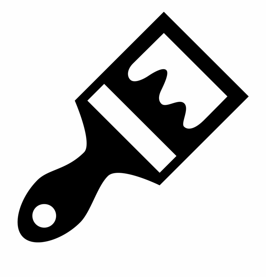 Paint Brush Icon Paint Brush Icon Black.