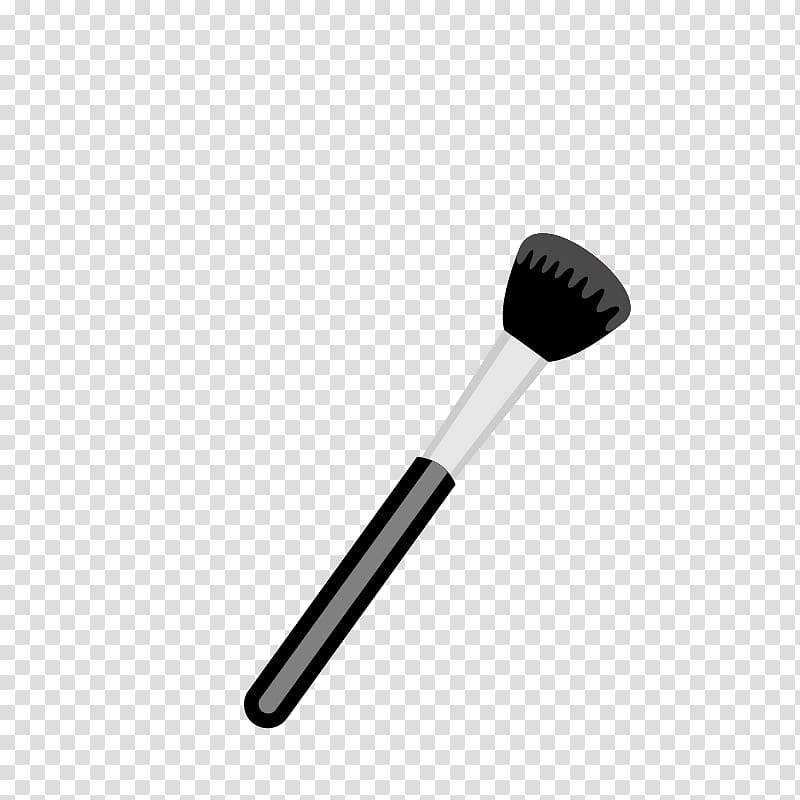 Black makeup brush illustration, Makeup brush Make.