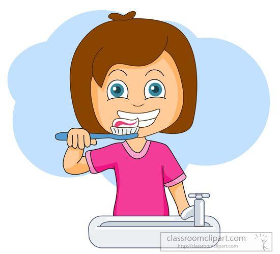 Brushing Teeth Clipart.