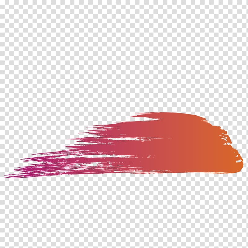 Orange illustration, Watercolor painting Brush Drawing.