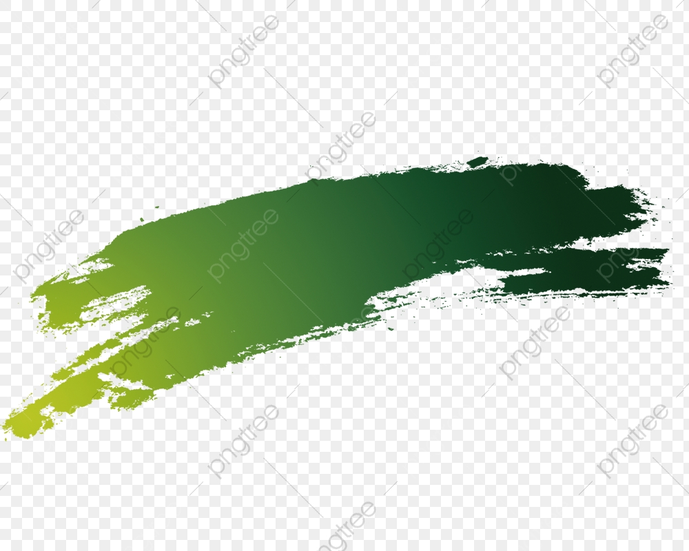 Brush Brush Effect, Dark Green, Calligraphy PNG Transparent Clipart.
