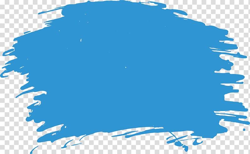 Brush Watercolor painting, Sky blue watercolor brush transparent.