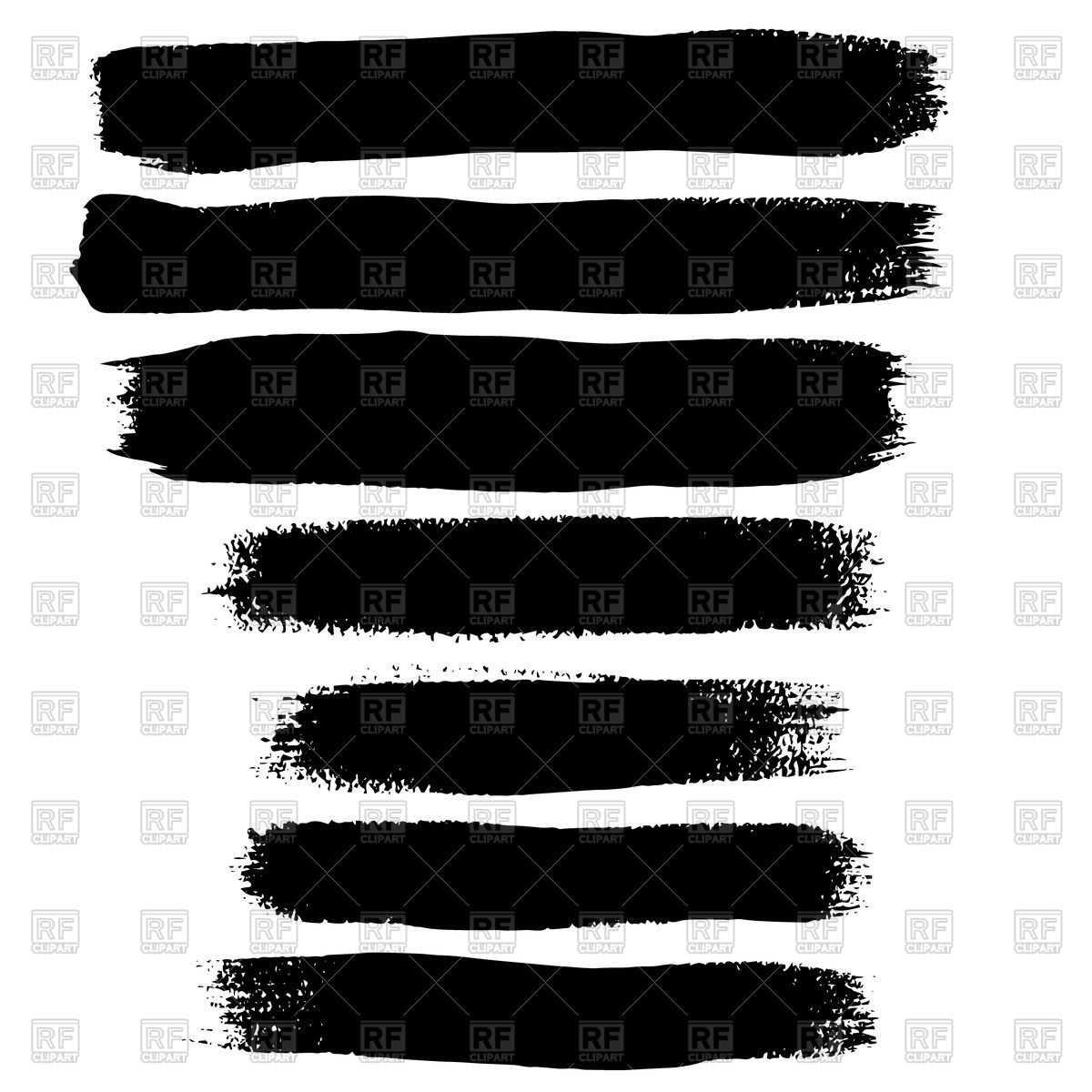 Black brushstroke Stock Vector Image.