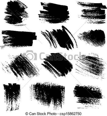 brush strokes set1 clipart.