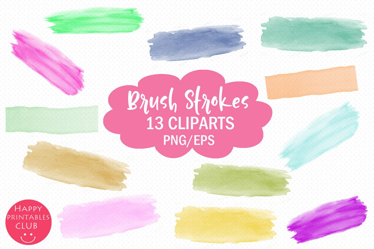 Brush Strokes Clipart.