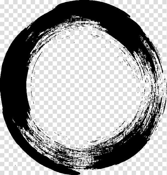 Black circle illustration, Brush Stroke Paint, brush stroke.