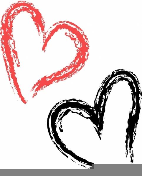 Brush Stroke Heart Clipart.