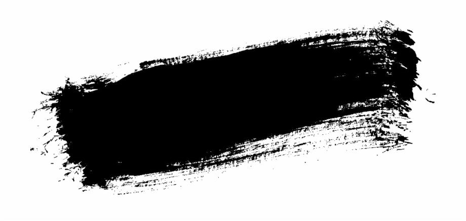 Black Paint Stroke Png.
