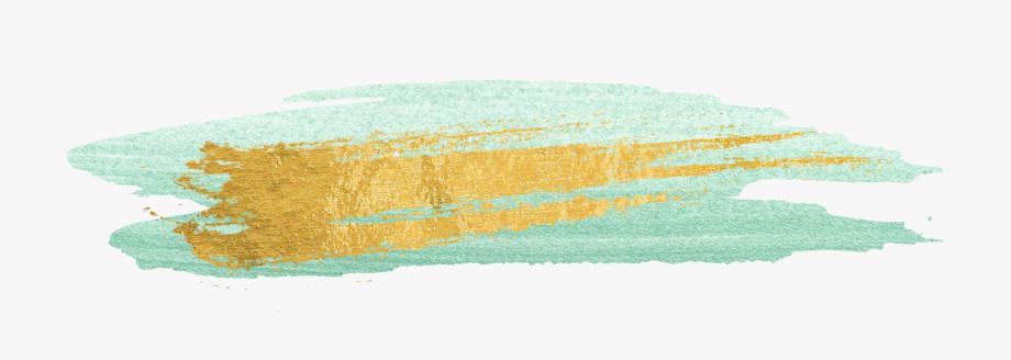 Free Gold Paint Brush Strokes.