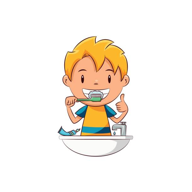 Kids brushing teeth clipart 1 » Clipart Station.