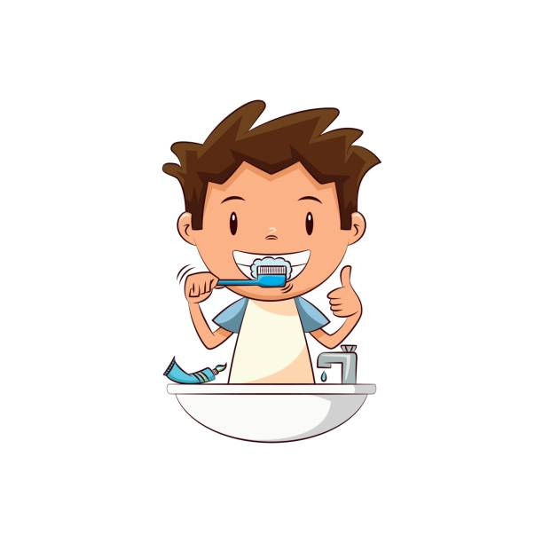 Best Brushing Teeth Illustrations, Royalty.