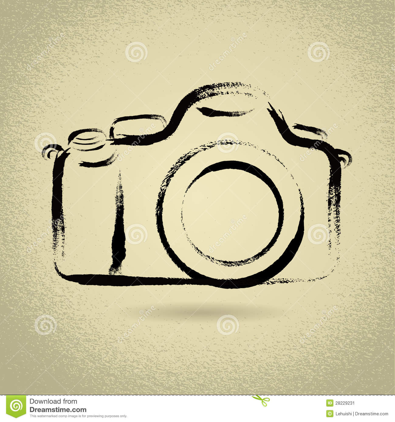 DSLR Camera With Brushwork Stock Image.
