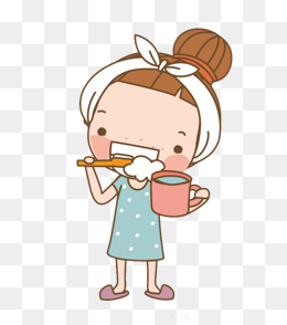 Brush Your Teeth Girl, Brush Clipart, Ca #41325.