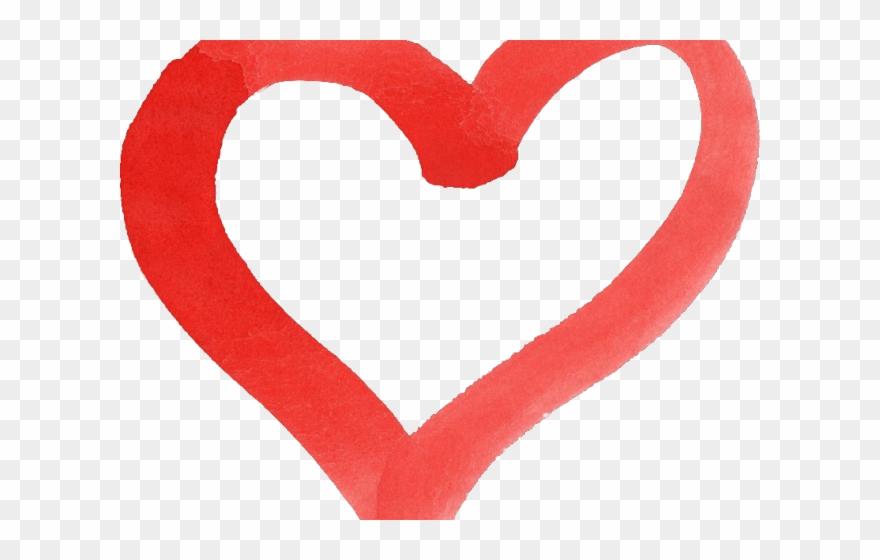 Heart Clipart Brush Stroke.