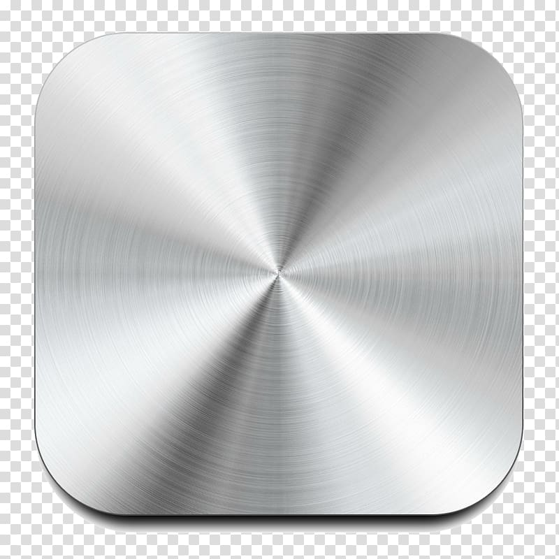 Brushed metal Button, Button transparent background PNG.