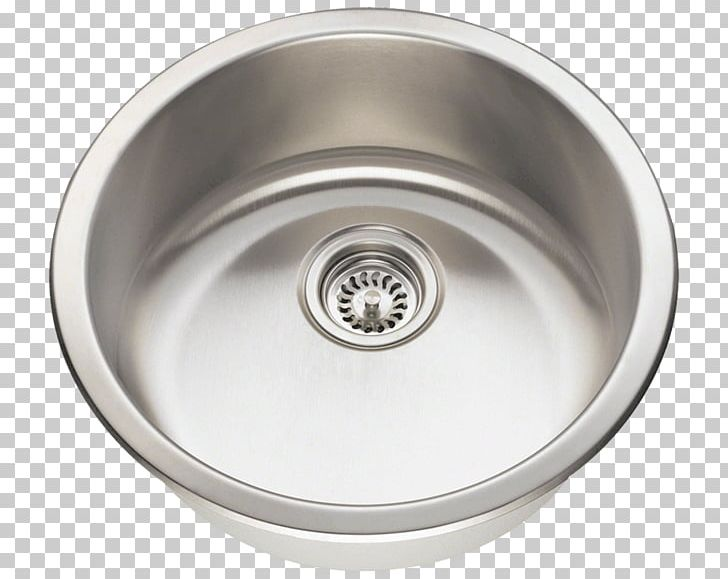 Kitchen Sink SAE 304 Stainless Steel Brushed Metal PNG.