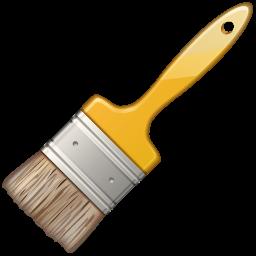 1066 Paint Brush free clipart.