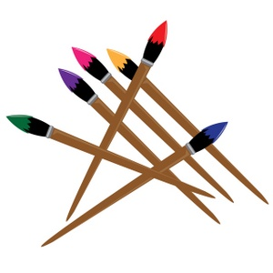 Artist Paint Brush Clip Art.