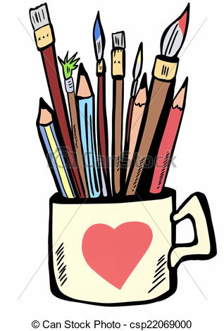 Paint brushes clip art.