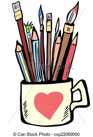 Paint brushes clip art.