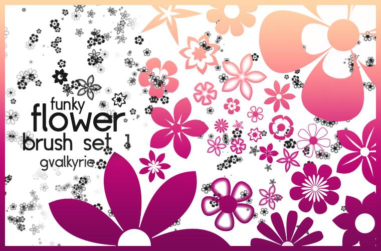 Flower Brush Set 1 by gvalkyrie on DeviantArt.