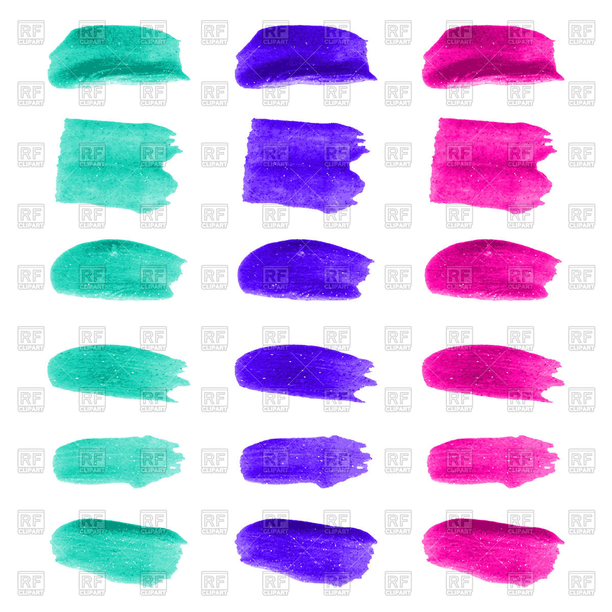 Set of color brush stroke Vector Image #126515.