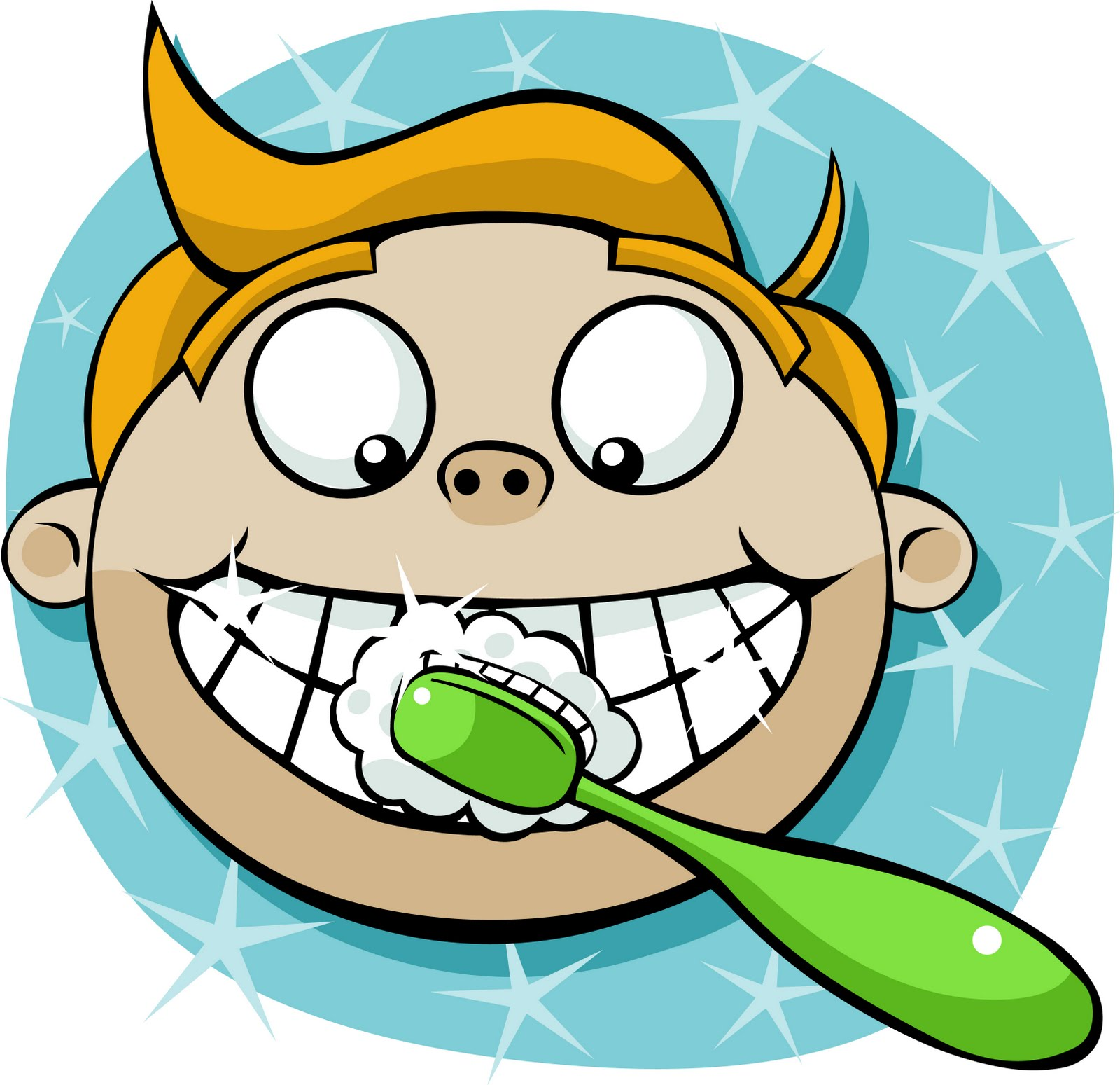 Brushing Clipart.