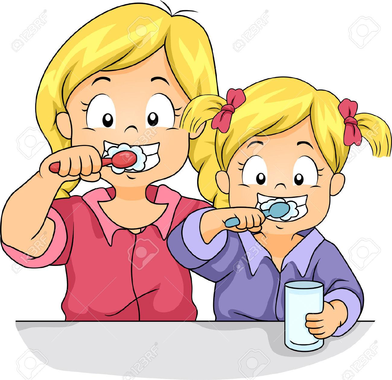 Clipart Brushing Teeth.