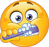 Girl Brush Teeth Clipart.