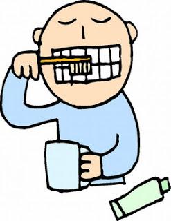 Brushing my teeth cartoon.