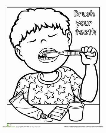 Brushing teeth clipart black and white » Clipart Station.