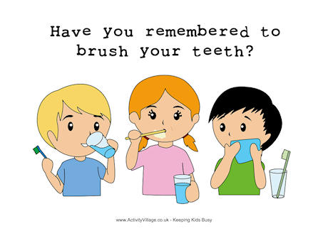 Brush Your Teeth Poster.