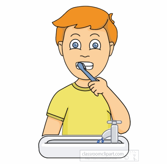 Clip Art Brushing Teeth.