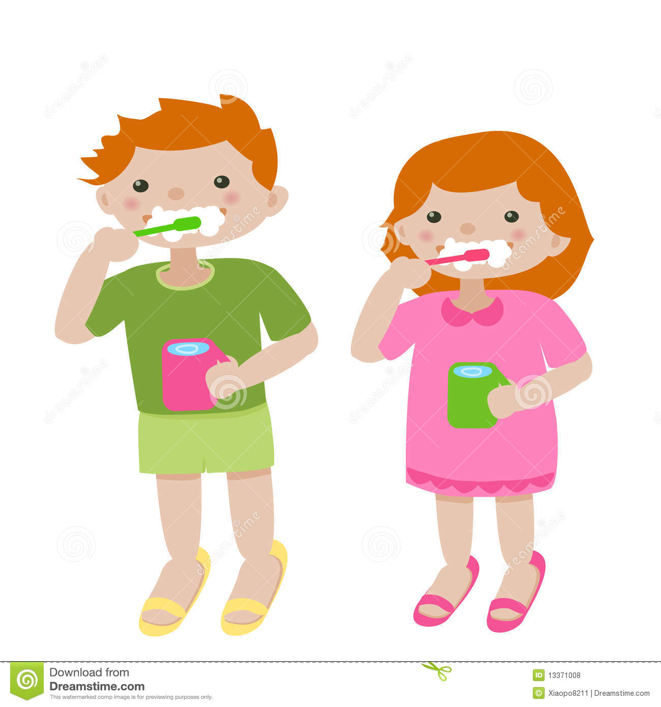 brush teeth clipart.