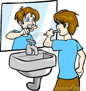 Girl Brush Teeth Clipart Free Clipart Image.