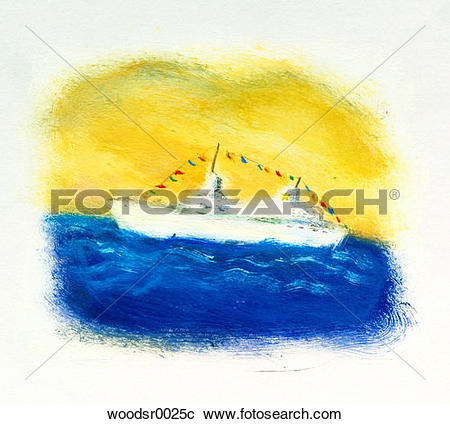 Stock Photography of blurry, boating, brushwork, brushwork, cruise.