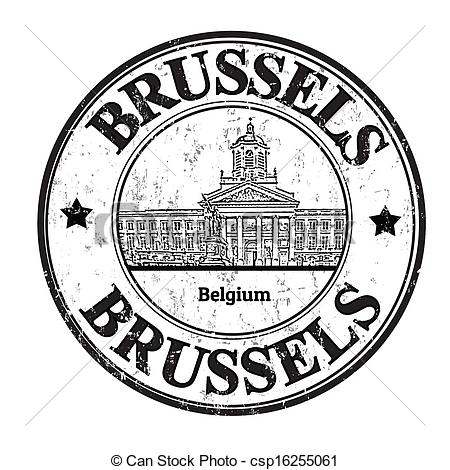 Clip Art Vector of Brussels stamp.