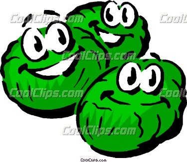 Brussel sprout clipart.