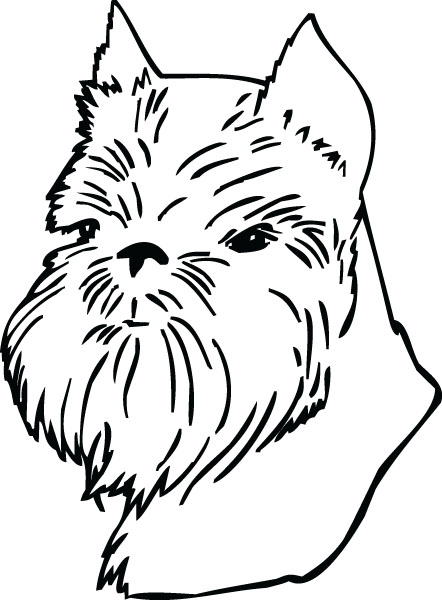 Brussels Griffon Dog Face Clip Art For Custom Pet Products.