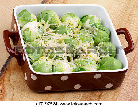 Stock Photo of Brussels Sprouts Casserole k17197524.