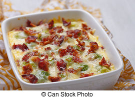 Pictures of Brussel sprout casserole dish.