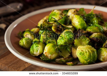 Roasted Brussels Sprouts Stock Photos, Royalty.