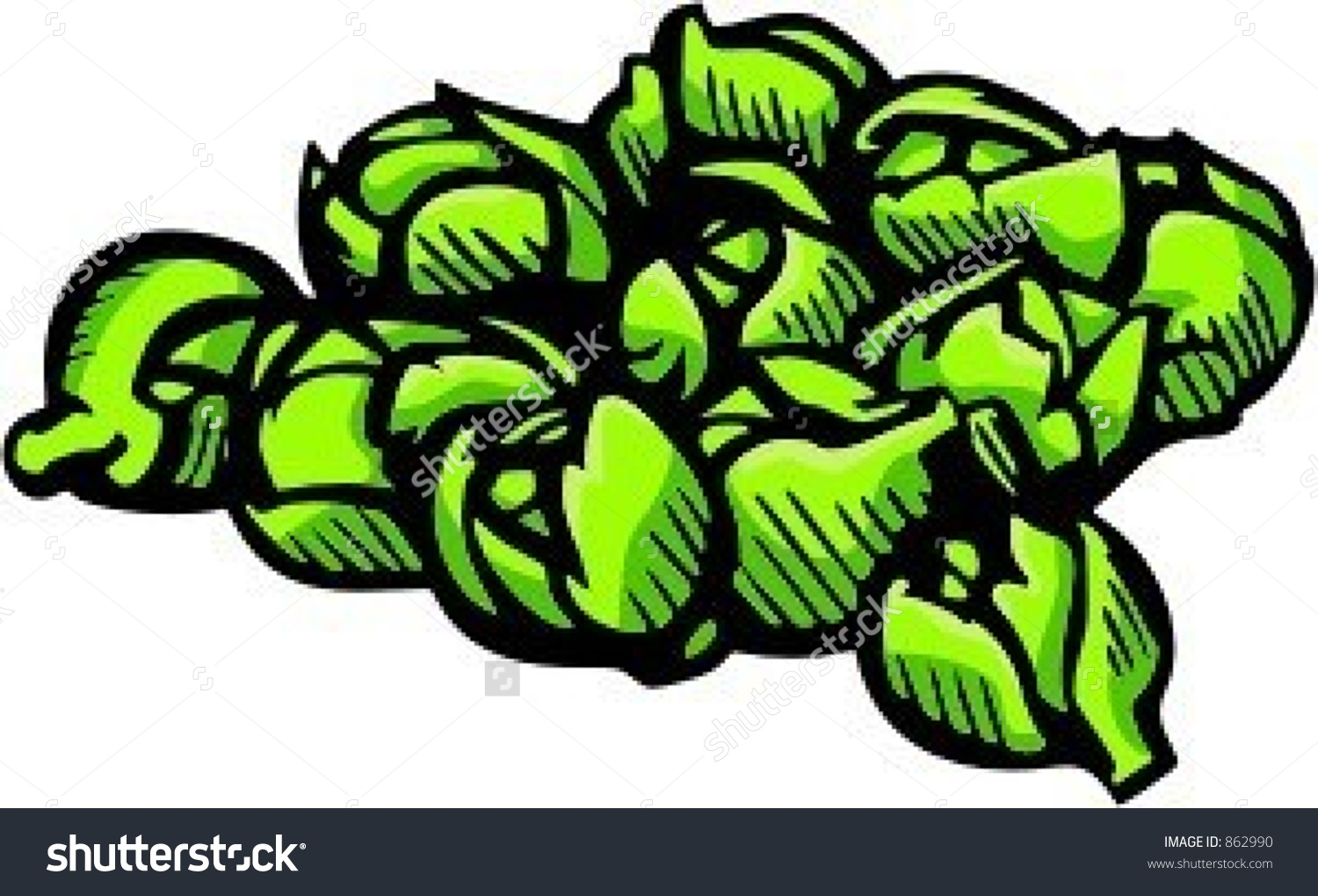Brussel sprout people free clipart.