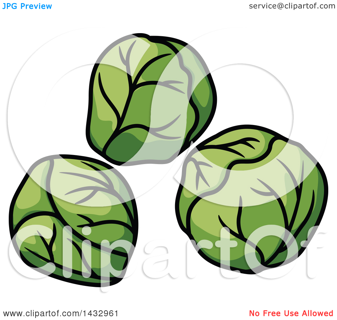 Clipart of Cartoons Brussels Sprouts.