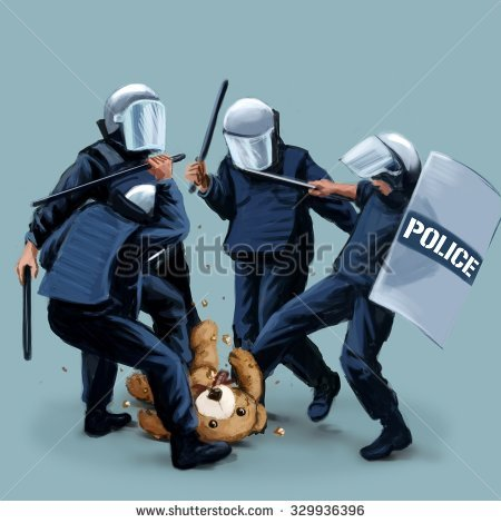 Police Brutality Stock Photos, Royalty.
