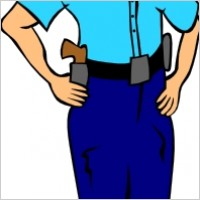 Woman Police Officer clip art.